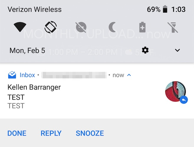 google calendar snooze android