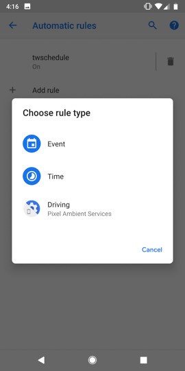 android p dnd