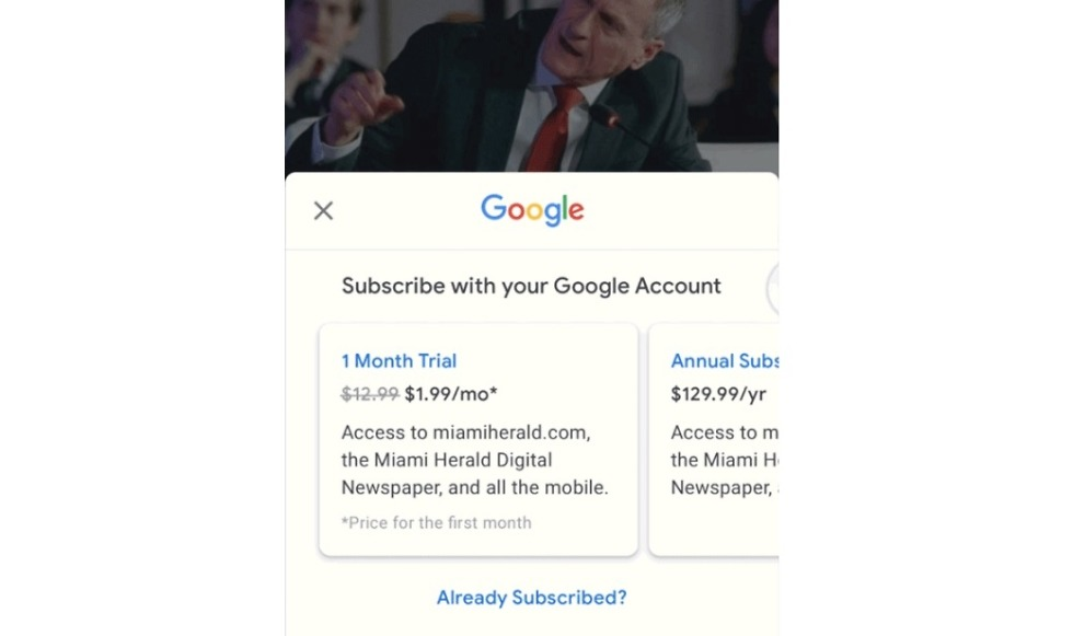 subscribe with google news