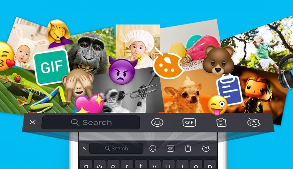 swiftkey update stickers toolbar