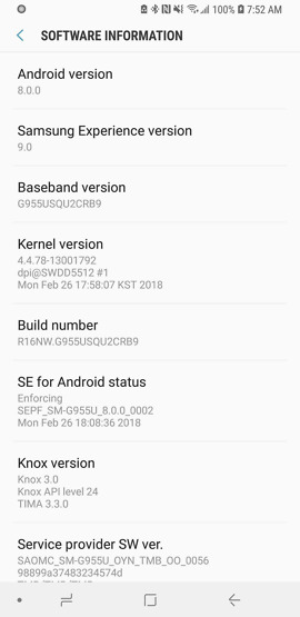 tmobile galaxy s8 oreo update