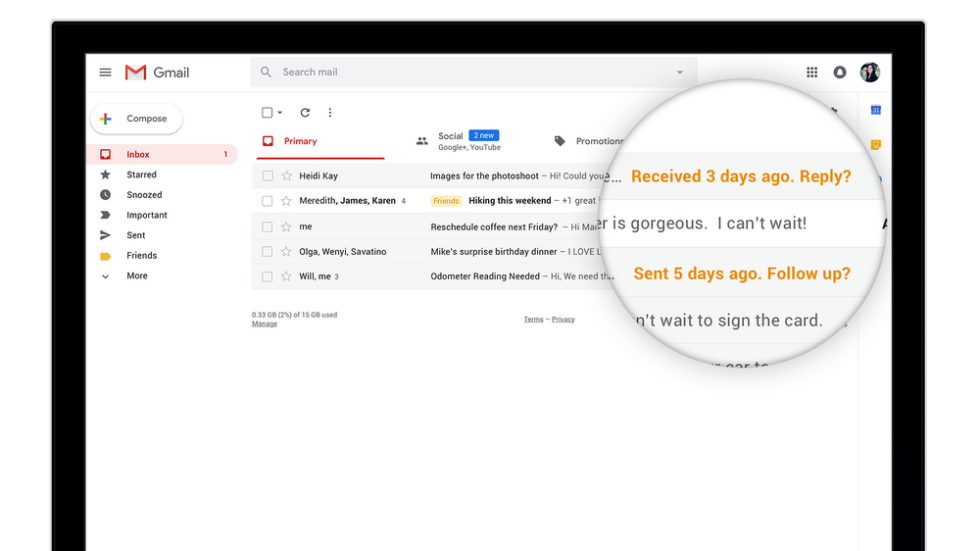 Nudge from Gmail