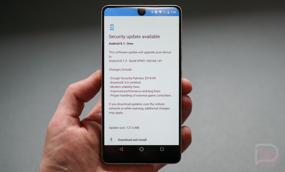 essential phone security update