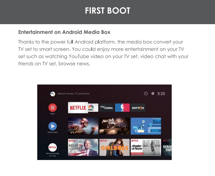 fake google android tv
