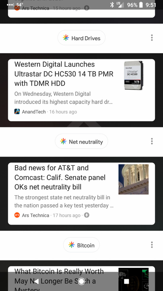 google feed terrible