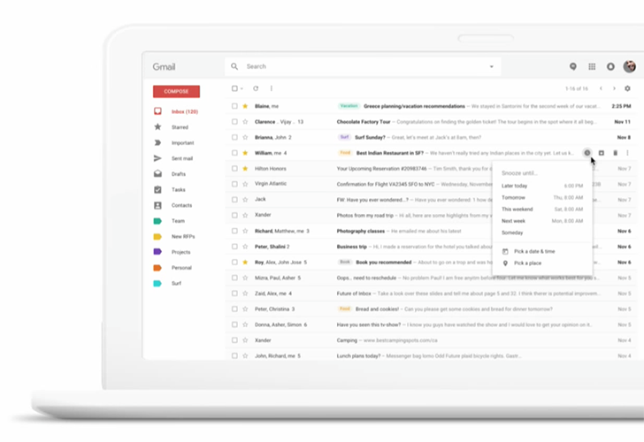 new gmail design web