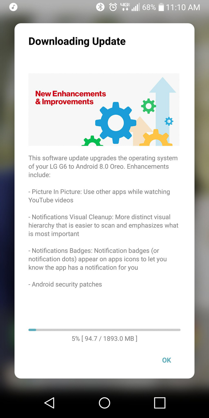 Verizon Lg G6 Now Getting Android Oreo Update Updated