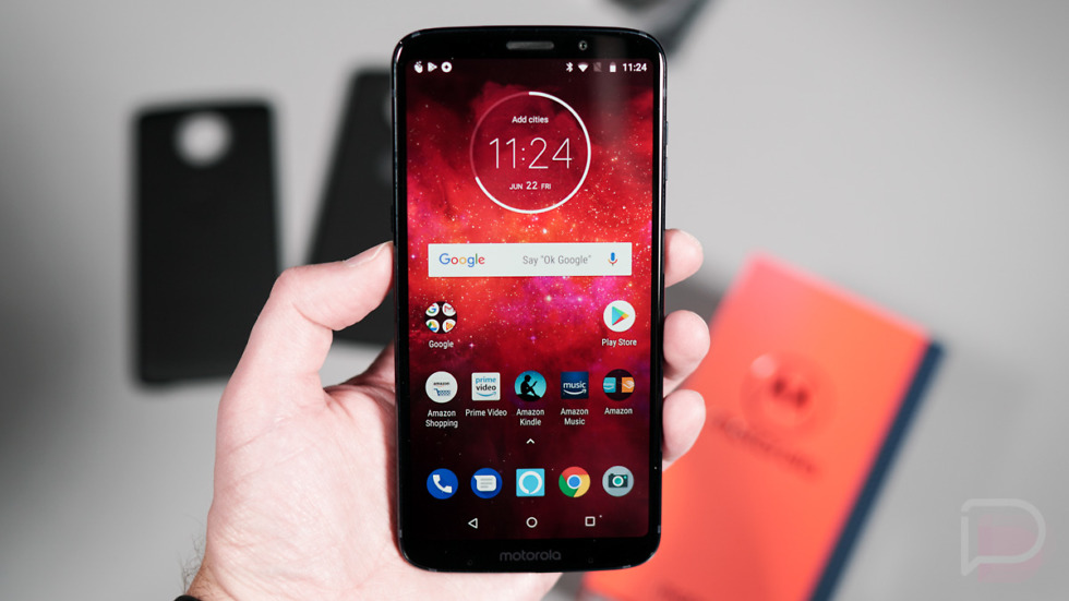 MOTO Z3 PLAY unboxing