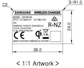 fcc samsung fast wireless charger