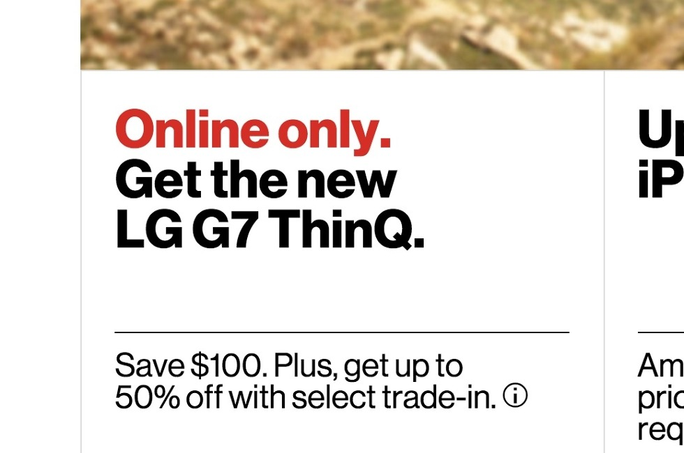 g7 verizon online only