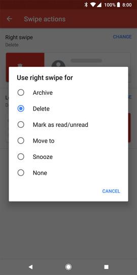 gmail swipe gestures