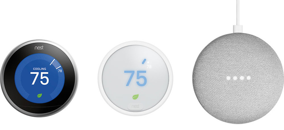 nest thermostat, free home mini deal