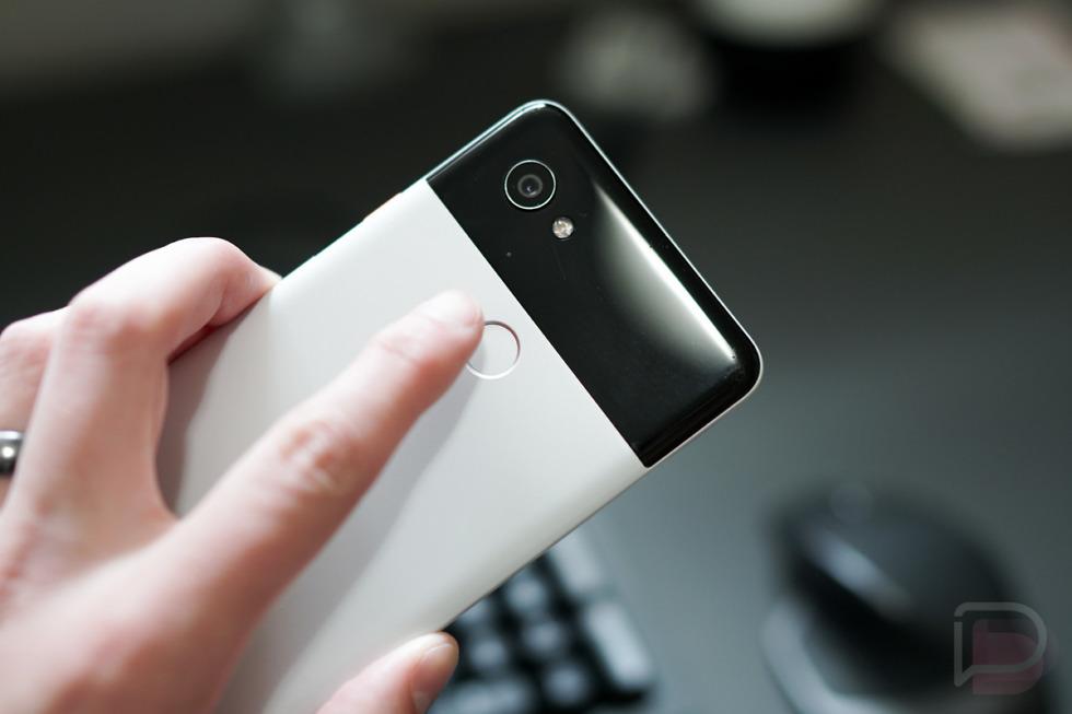 pixel fingerprint scrolling gesture