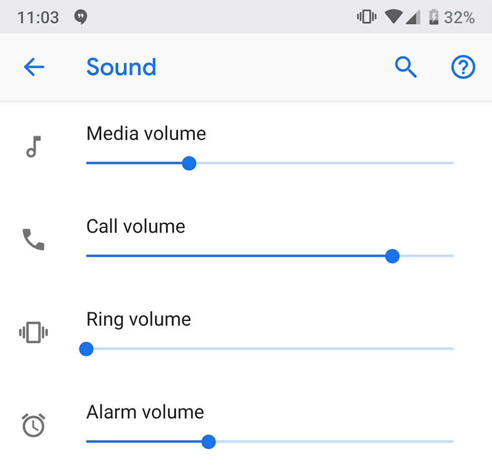 android p dp4 call control