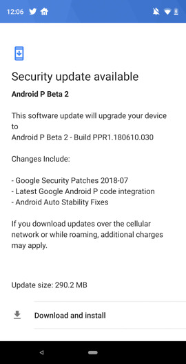 essential android p beta 2