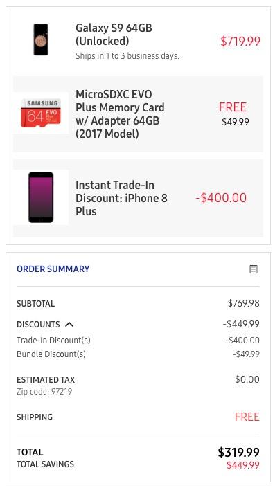 galaxy s9 deal