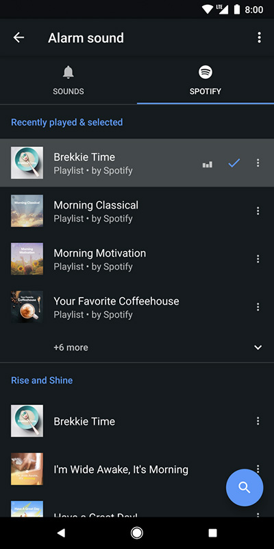 Google Clock Music Alarm