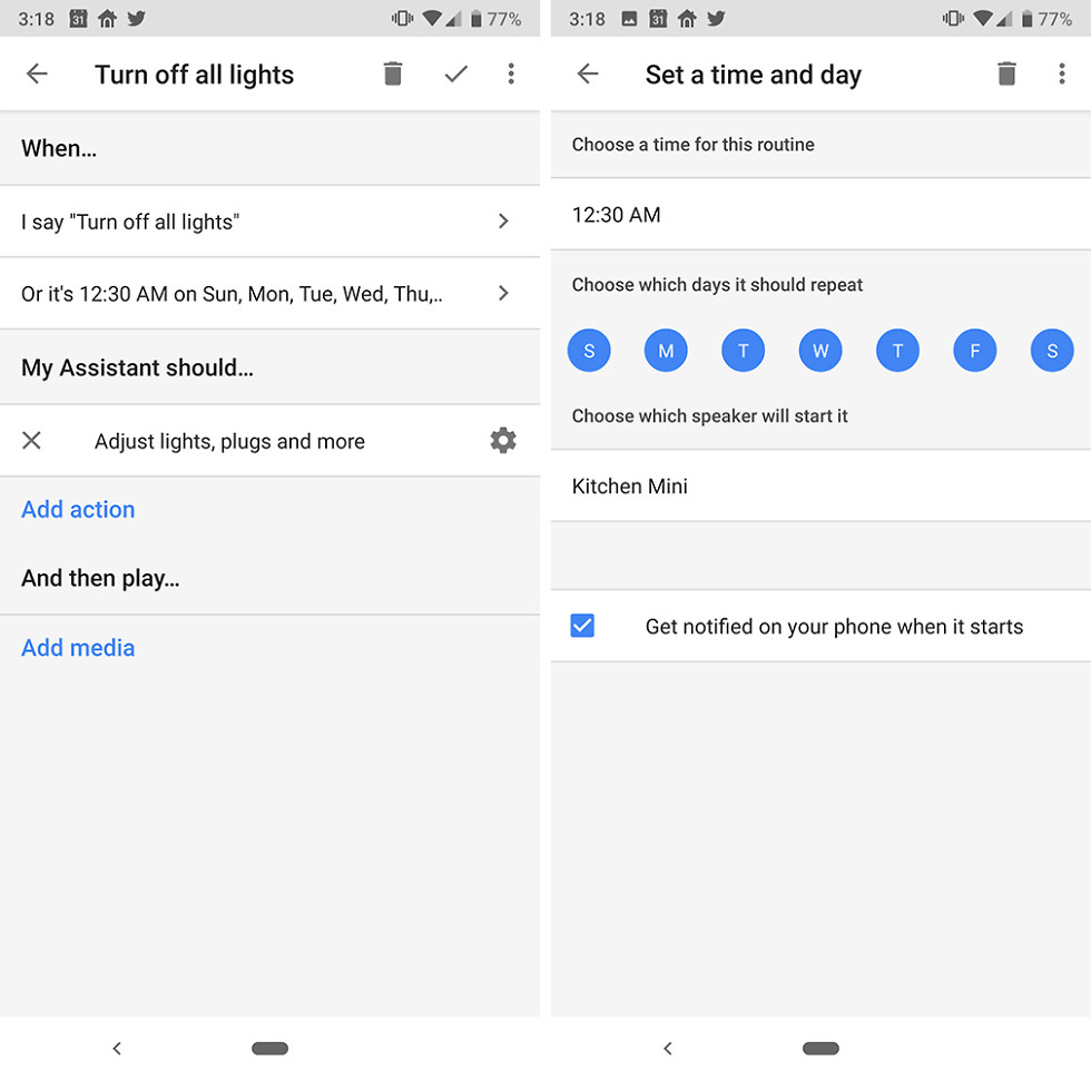 Google Home Routine Scheduling