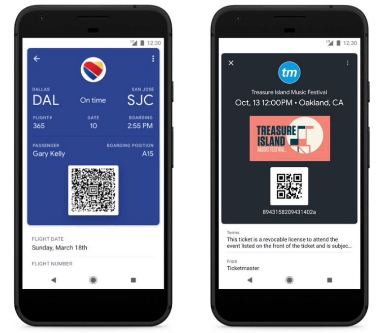 google pay tickets