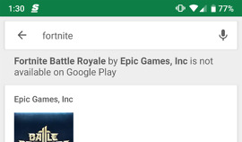 Fortnite Google Play