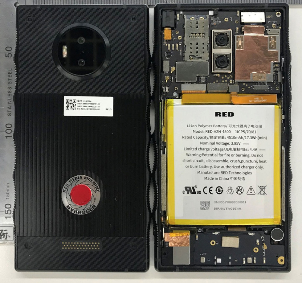 Red Hydrogen One FCC