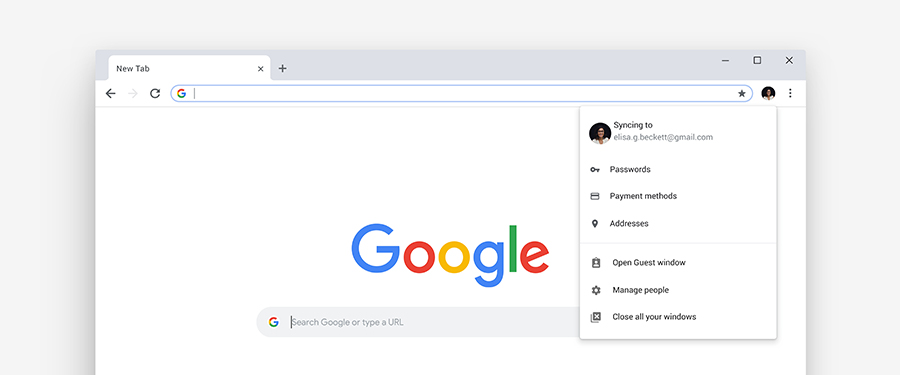 New Google Chrome UI
