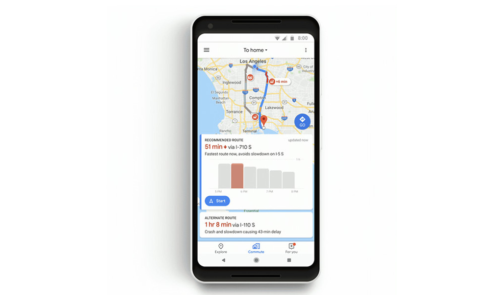 Google Maps Commute
