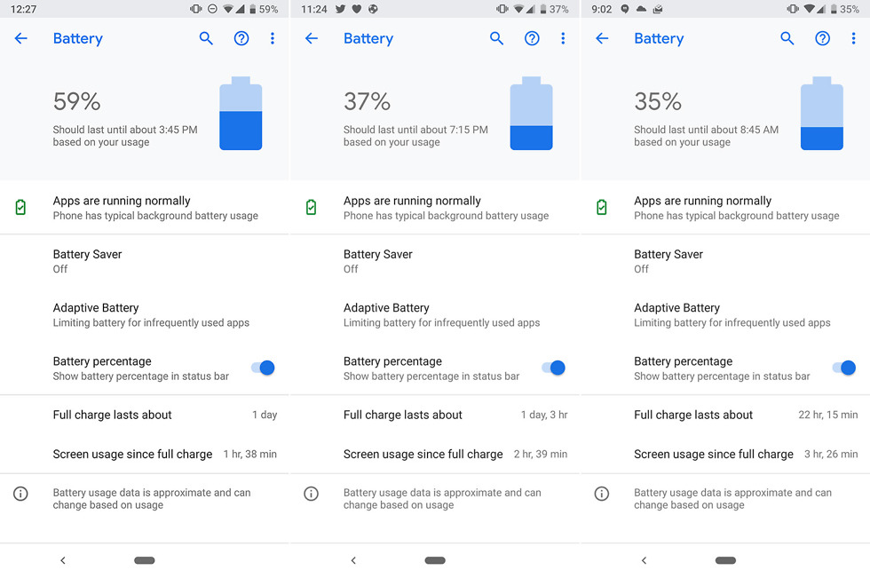 Pixel 3 Battery Test
