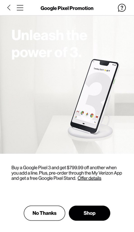 Pixel 3 Free Pixel Stand Promo