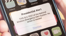 Presidential Alert Text Test