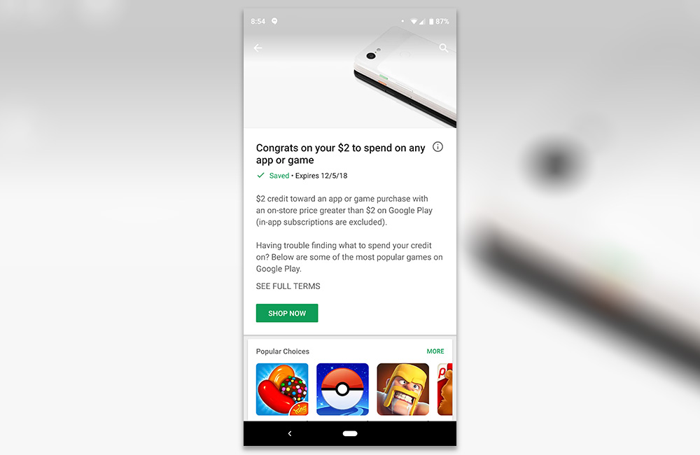 Google Play Is In The Giving Mood At Moment With Free Credits Showing Up For Many Pixel 3 Owners Are Sure Getting A Of Dollars