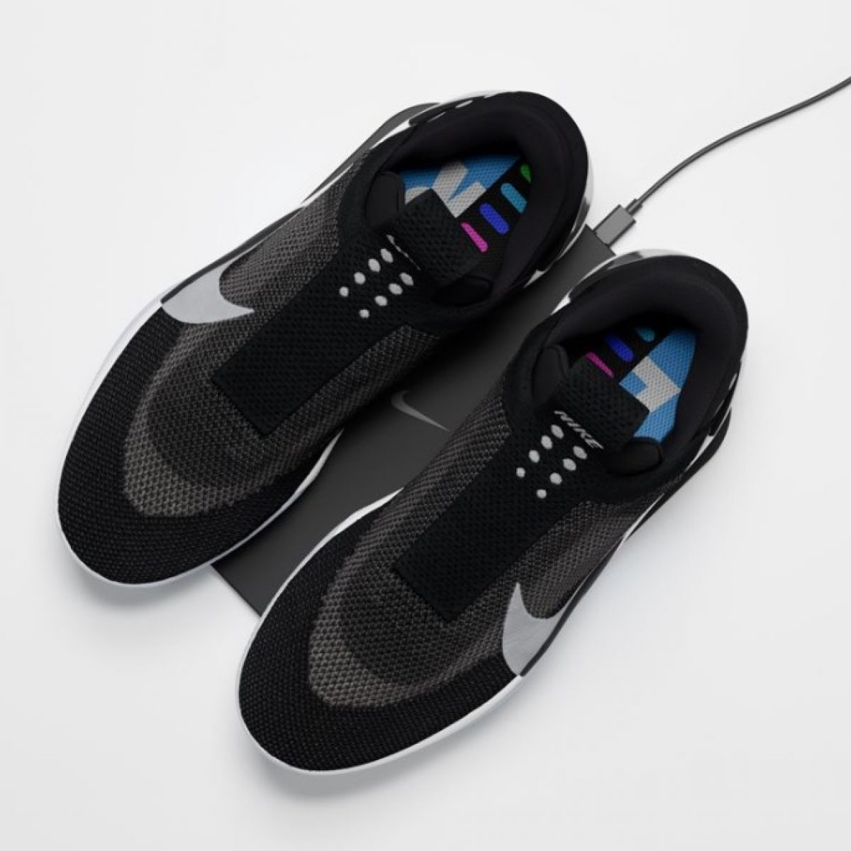 Nike S New Adapt Bb Shoes Self Lace Wirelessly Charge Connect Via App Updated