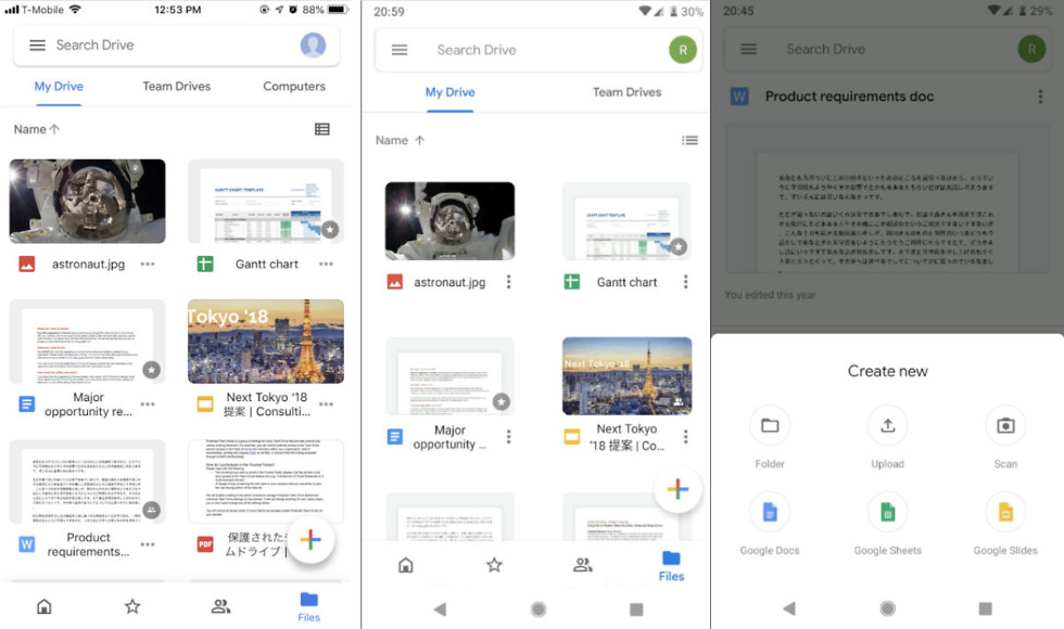 Google Drive's Redesign Has Arrived for Android and iOS