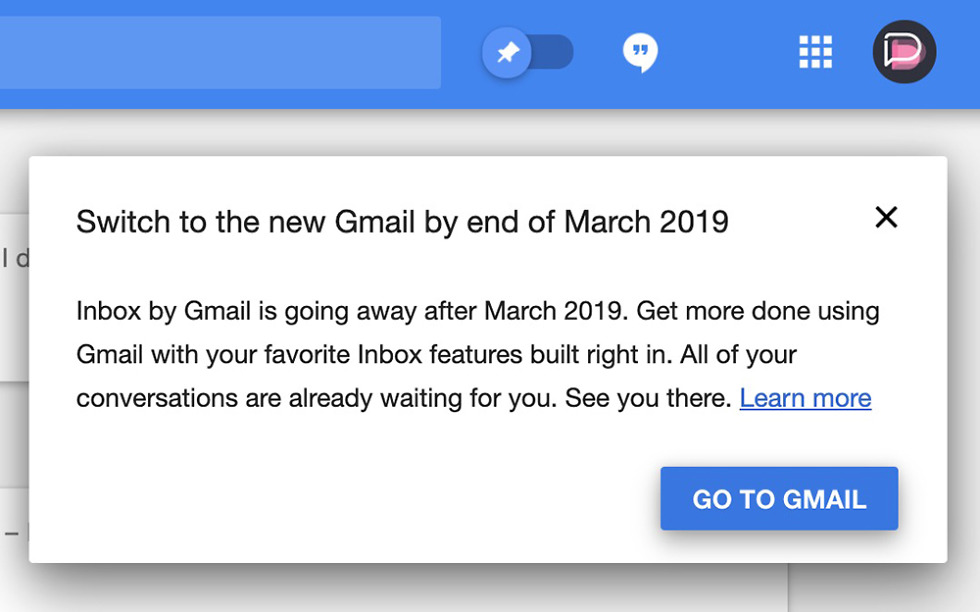 Google Inbox Death