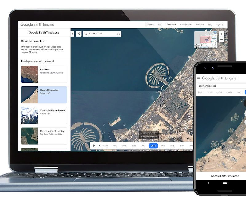 Google Earth Timelapse Now Available for Mobile and It's Awesome