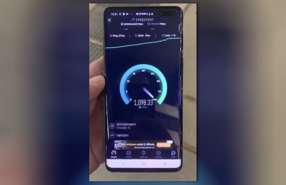 Galaxy S10 5G Gigabit Speed
