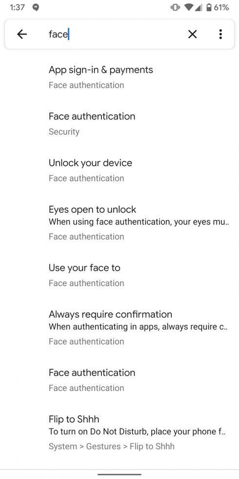Android Q Face Authentication
