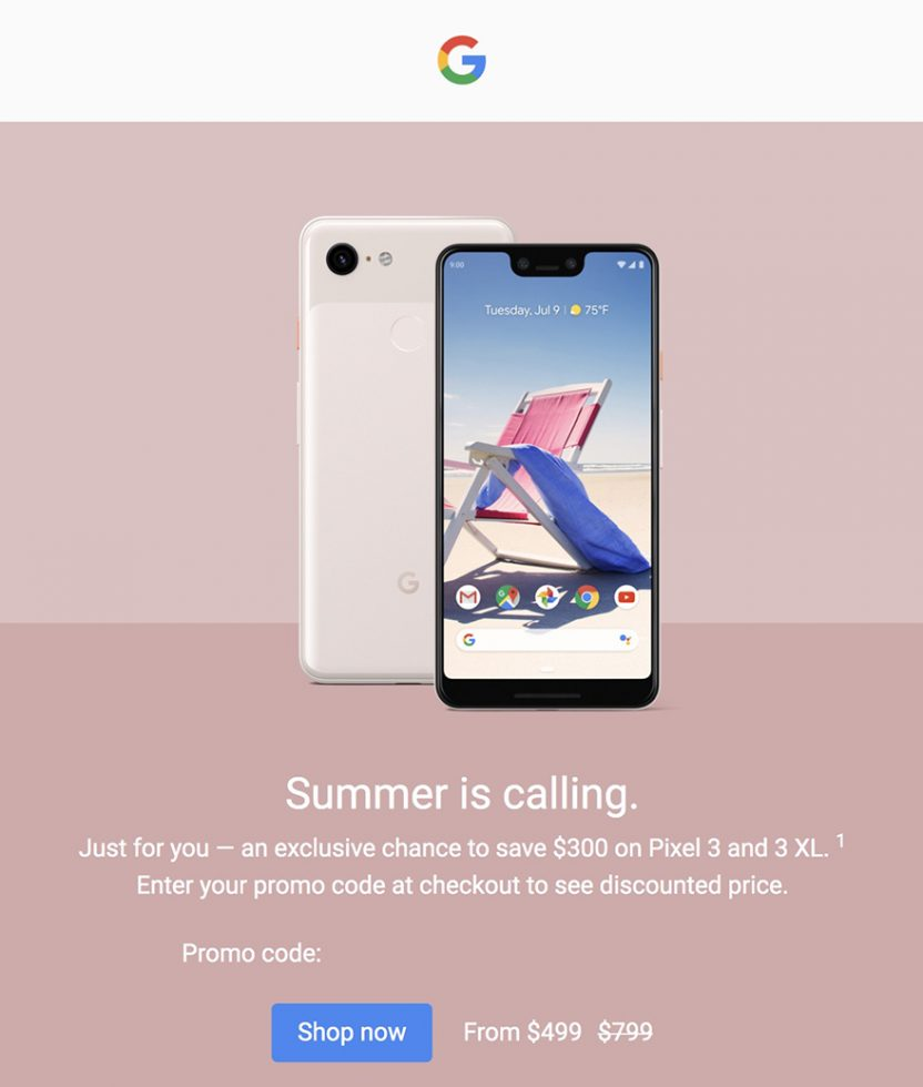 $300 Off Pixel 3 Deal