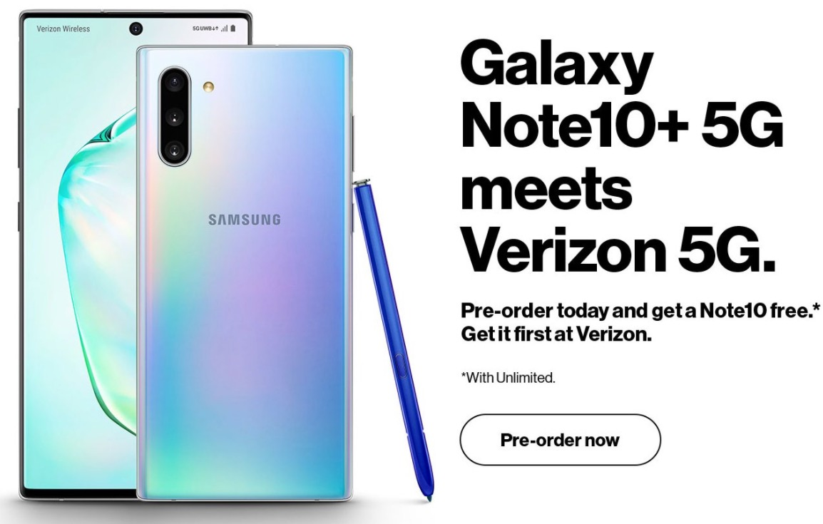 Rumored Galaxy Note 10 Plus 5G is coming to Verizon, leak shows