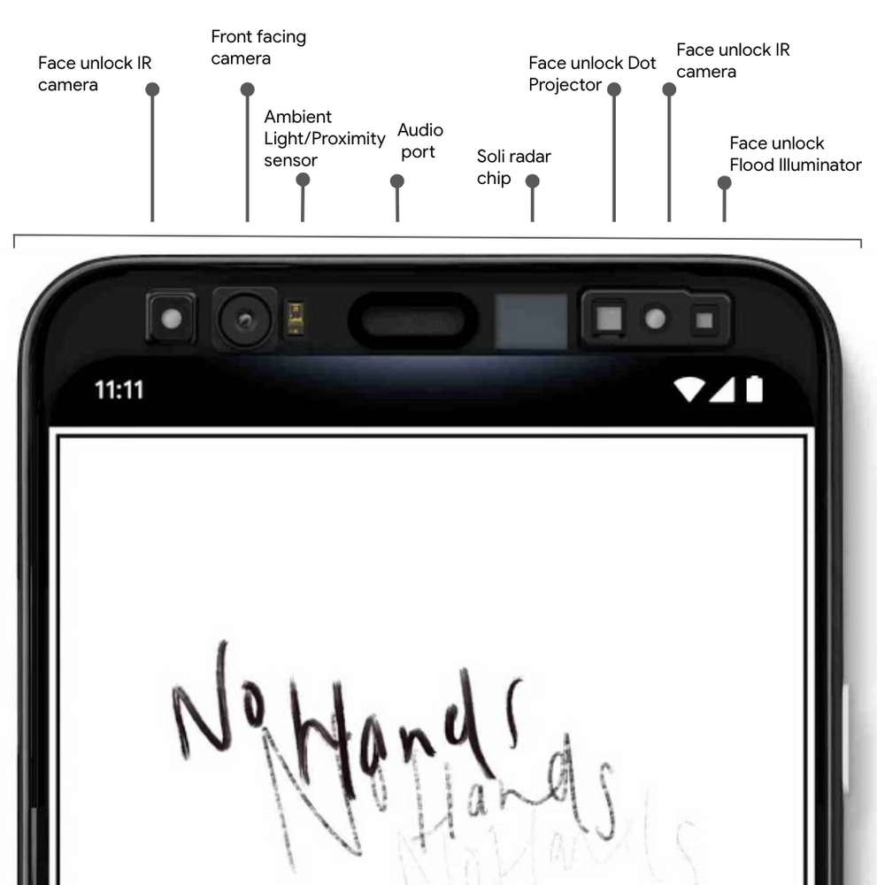 Google details Pixel 4 Motion Sense, Face unlock features