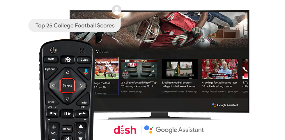 vrfootballscores sm - Google Assistant Comes to DISH Hopper Boxes Via Update and New Remote