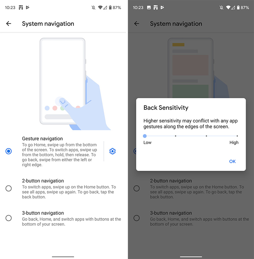Android Q Beta 6 Gestures
