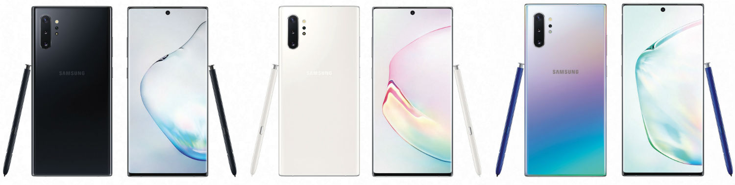 Note 10 Plus - Here's the Galaxy Note 10 in Most of Its Pretty Colors