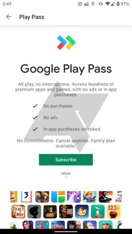 Play Pass 270x480 - Google Testing Play Pass, an Ad-Free, IAP-Free Subscription Service for Apps and Games