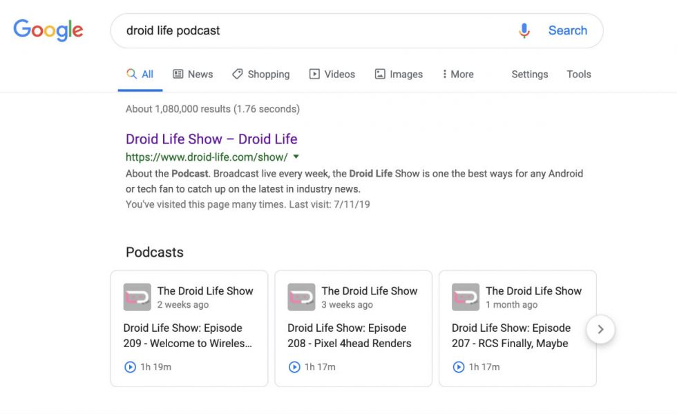Podcast Listening and Discovery Comes Straight to Google Search