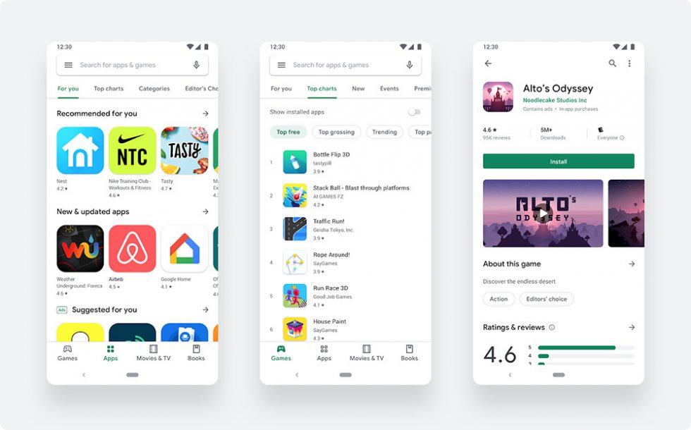 White Google Play copy 980x610 - Google Play's Big Visual Refresh is Official