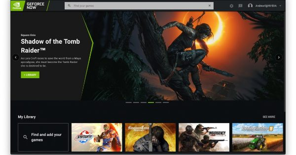 NVIDIA GeForce NOW Desktop Client Gets New UI Focused on Finding...
