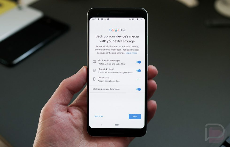 Google One Backup