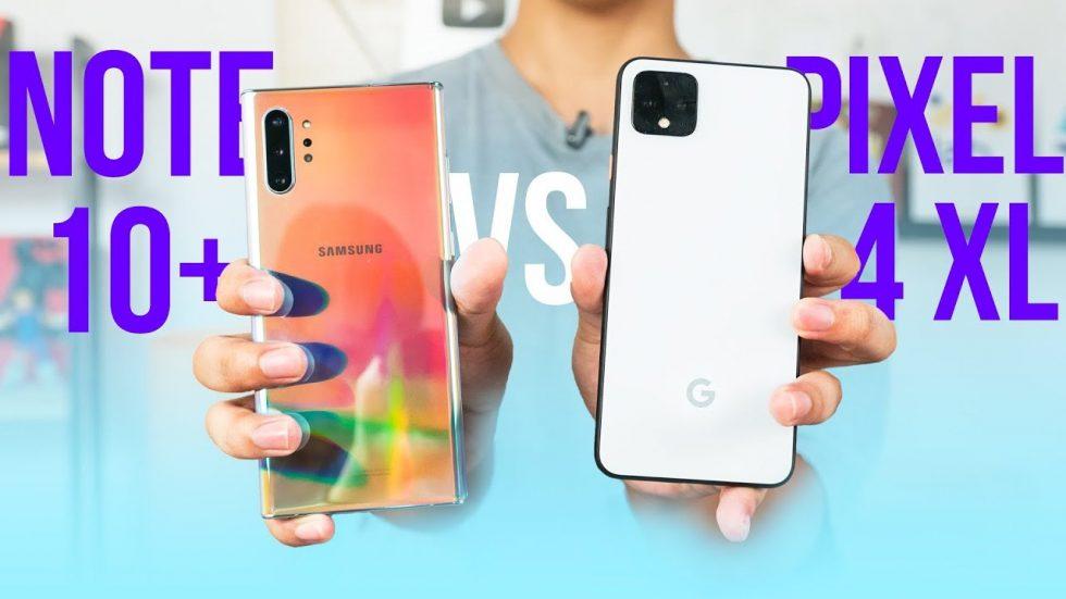 Pixel 4 XL Gets a Galaxy Note 10+ Comparison Already