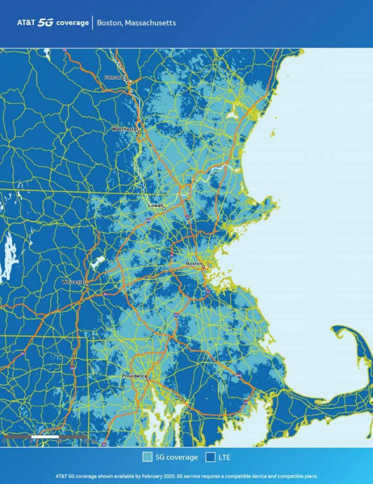 ATT Boston 5G Map